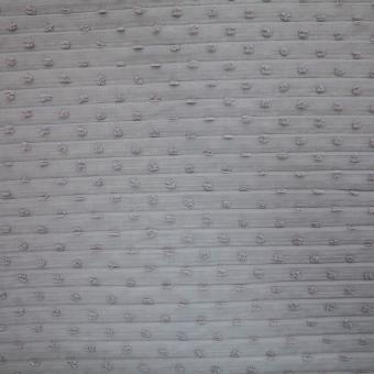 Plissee Crepe m. Tupfen grau