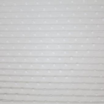 Plissee Crepe m. Tupfen weiß