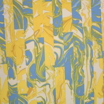 Scuba-Jersey grau-gelb