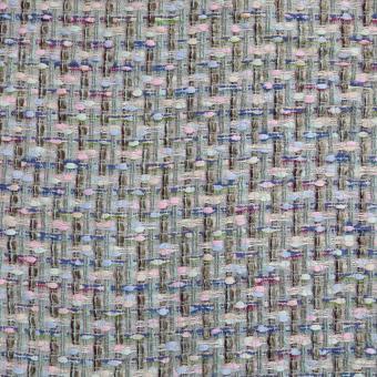 Tweed bleu-lindgrün-rose