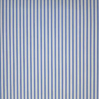 elast. Popeline-Streifen blau-weiß