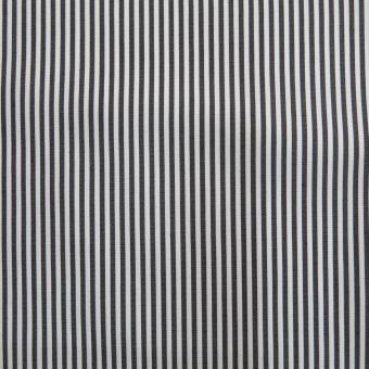elast. Popeline-Streifen schwarz-weiß