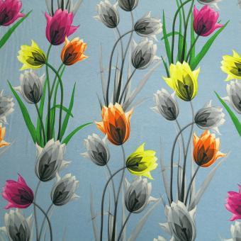 Jersey Digital bedruckt Tulpen allover