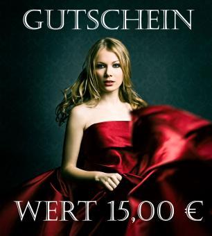 Gutschein Wert 15,00 €