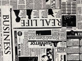 Zeitung schwarz-weiß