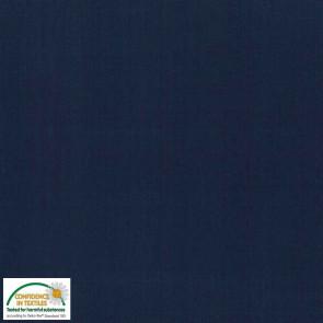 Baumwolle uni marine Ökotex Standard 100