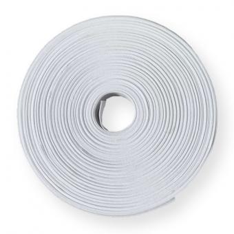 BW Schrägband   vorgefalzt weiß 2cm  50m Rolle