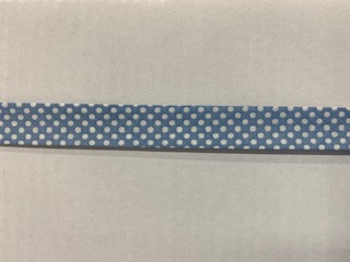 Tupfen-Schrägband bleu 20mm