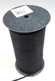 Flachelastik 5mm schwarz