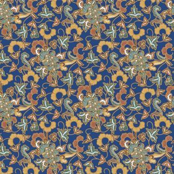 Indonesischer Blumendruck blau nur solange Vorrat reicht!