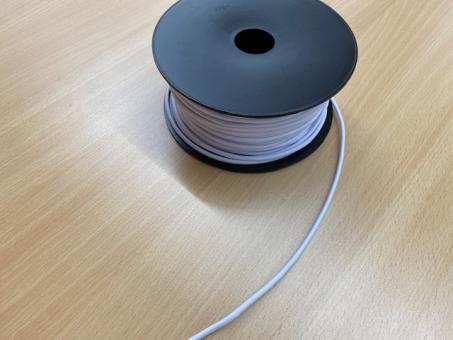 Gummikordel weiß  2,5mm