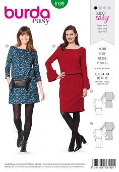 Burda 6189 Kleid mit Gummizug super easy
