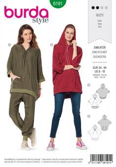Burda 6191 Kapuzen-Sweater