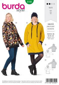 Burda 6195 Kapuzen-Sweater