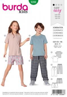 Burda 9288 Kinder T-Shirts und Hosen