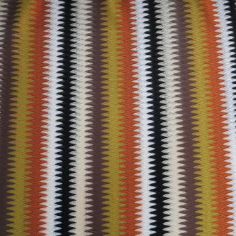 Zackenstrick beige-braun-rost-ocker