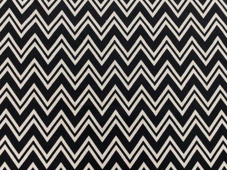 Leinendruck 140cm schwarze Zacken