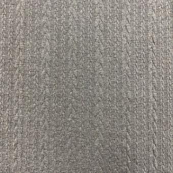 Zopf-Jacquard grau