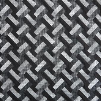 Jacquard-Jersey grafisches Muster schwarz-grau