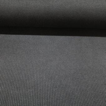 Waffel Strick schwarz 5,5m vorrätig
