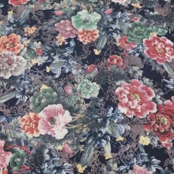 Viskose mit Blumendruck 2,3m vorrätig