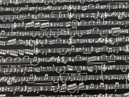 Musiknoten schwarz-weiß