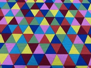 Ottoman Drucke 3-Ecke multicolor