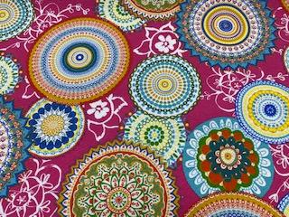 Ottoman Drucke Mandalas  multicolor