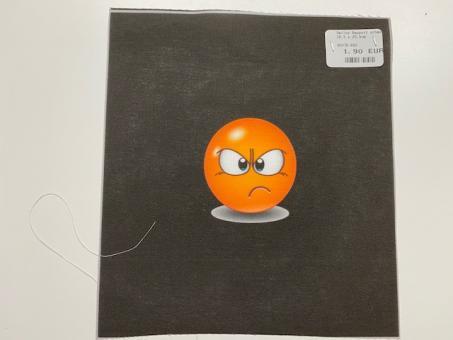 Smiley Rapport schwarz 18,5 x 20,5cm