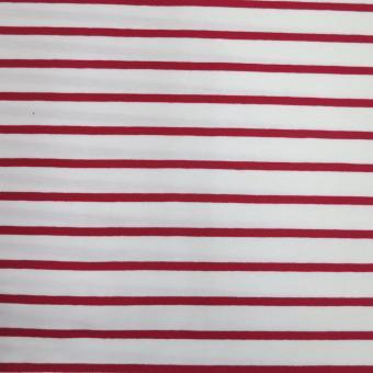 Ringel-Jersey weiß-rot nur solange Vorrat reicht!