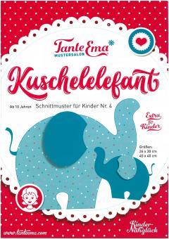 Schnittmuster für KINDER Kuschelelefant  Nr.4