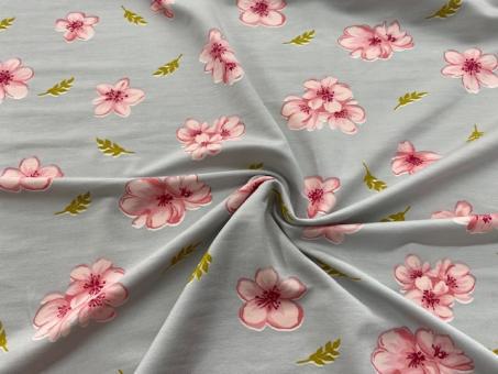 Modal  Jersey Druck Blumen nur solange Vorrat reicht!!