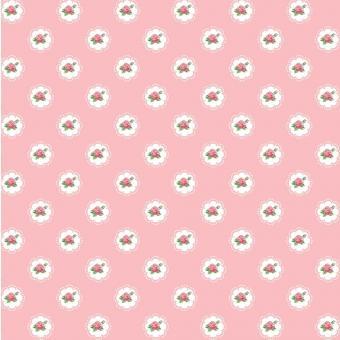 Popeline Röschen rosa