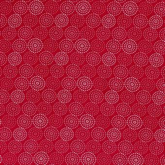 Viskose Druck Kreise rot nur solange Vorrat reicht!!