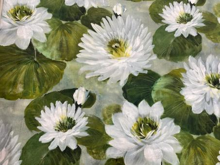 Satin Seerosen weiß-grün nur solange Vorrat reicht!