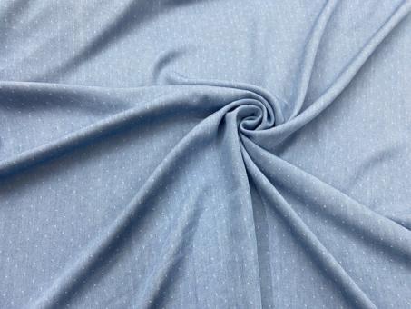 Chambrai Tencel TUPFEN  hellblau 0,8m 1,1m und 1,9m vorrätig