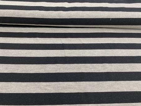 Leinen Blockstreifen schwarz-grau noch 4,1m vorrätig