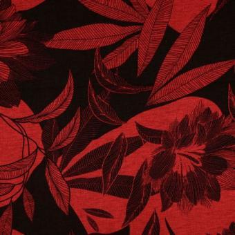 Strick-Jersey floral rot-schwarz nur solange Vorrat reicht!!