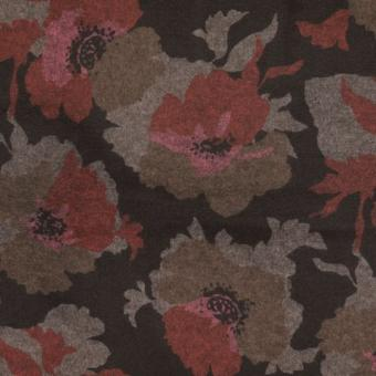floraler Flanel-Romanit rot-schwarz nur solange Vorrat reicht!!