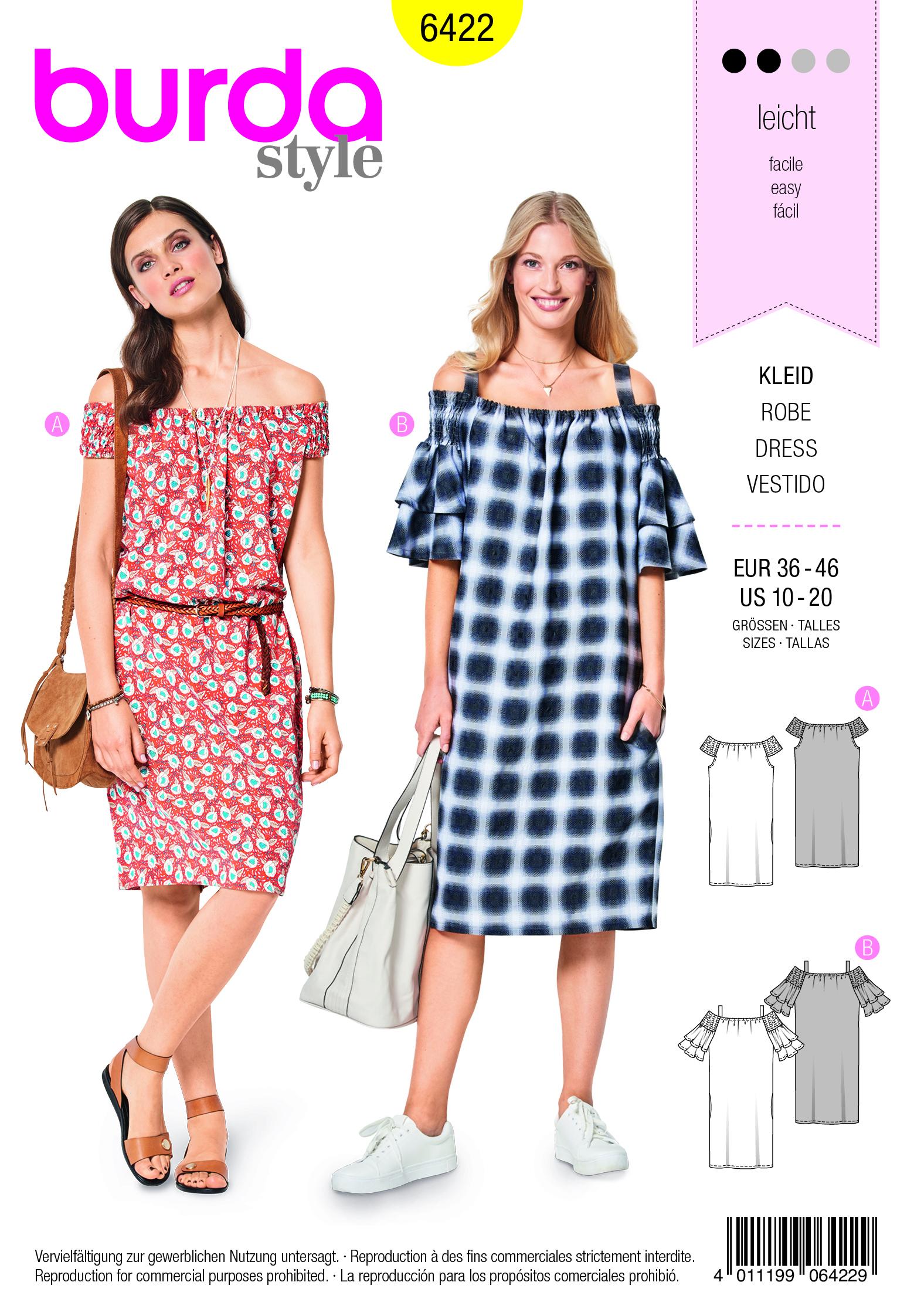 stoffversand | burda kleid - burda schnitte | online kaufen